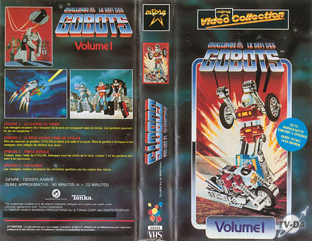 cassette video defi gobots vol1