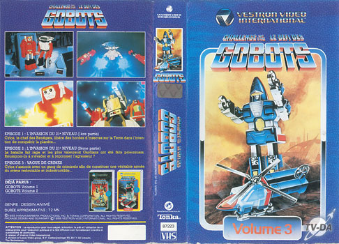 cassette video defi gobots vol3