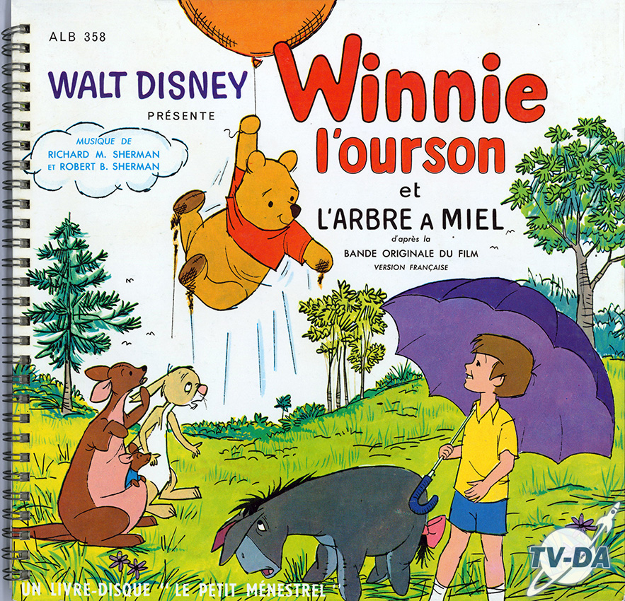winnie ourson arbre miel film disque vinyle 33 tours