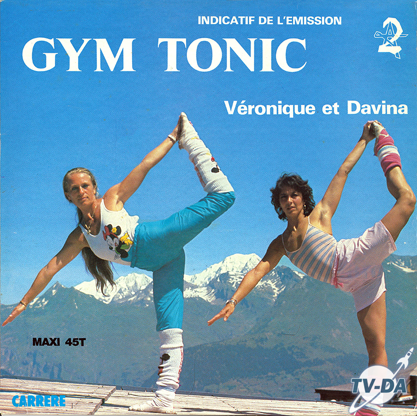 gym tonic veronique davina antenne2 sdisque vinyle 33 tours
