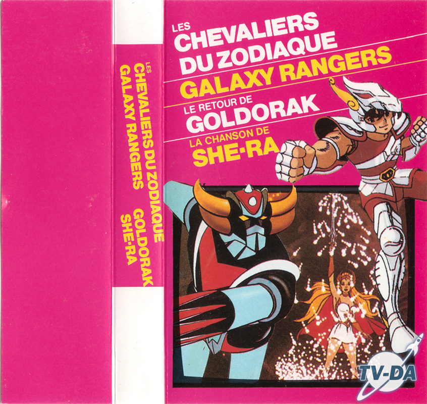 cassette audio 4 chansons Chevaliers Zodiaque Galaxy Rangers- Goldorak She-ra)
