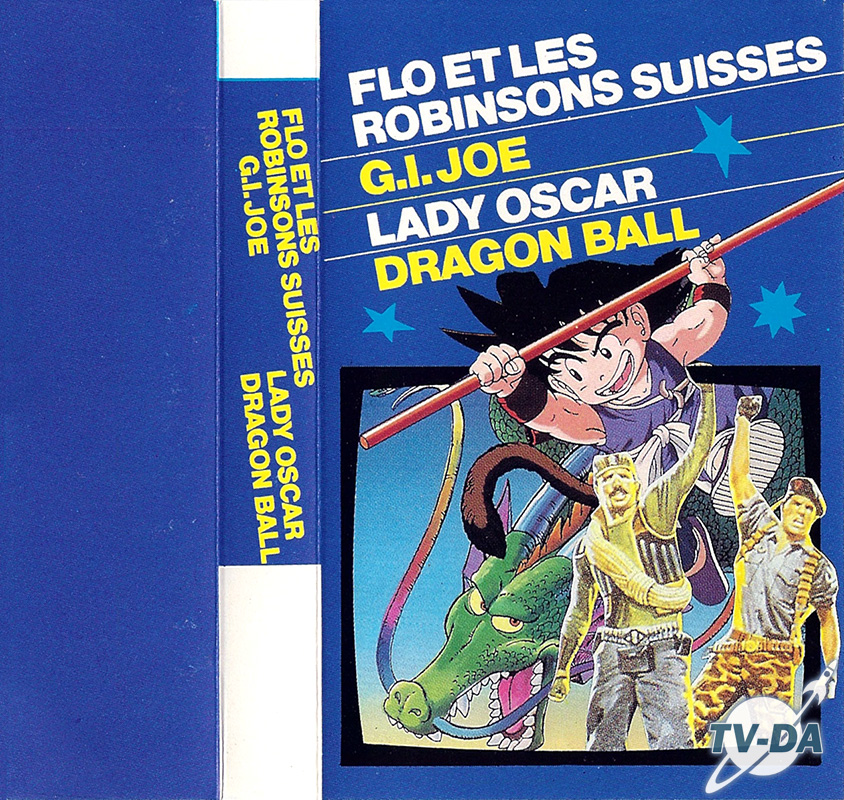 cassette audio 4 chansons flo robinson suisses gijoe lady oscar) dragon ball