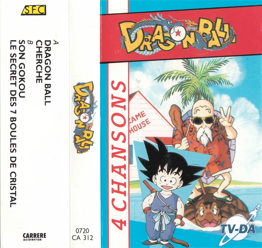 k7 cassette audio dragon ball 4 chansons sfc