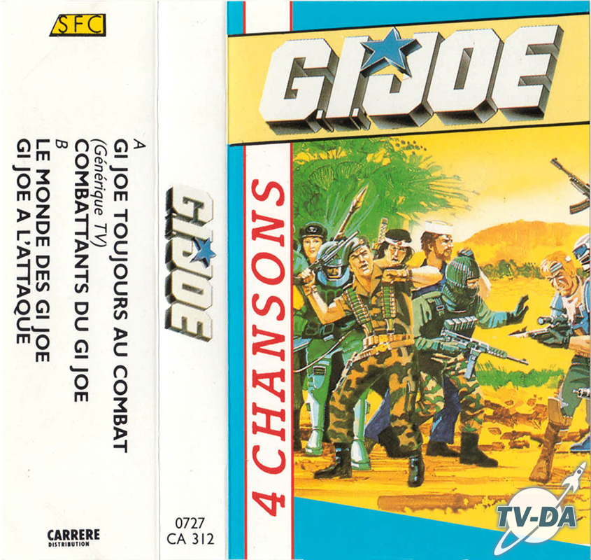 k7 cassette audio gijoe 4 chansons sfc
