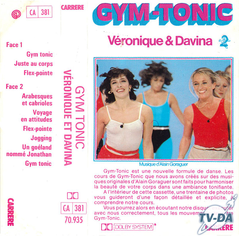 cassette audio gym tonic veronique davina antenne2