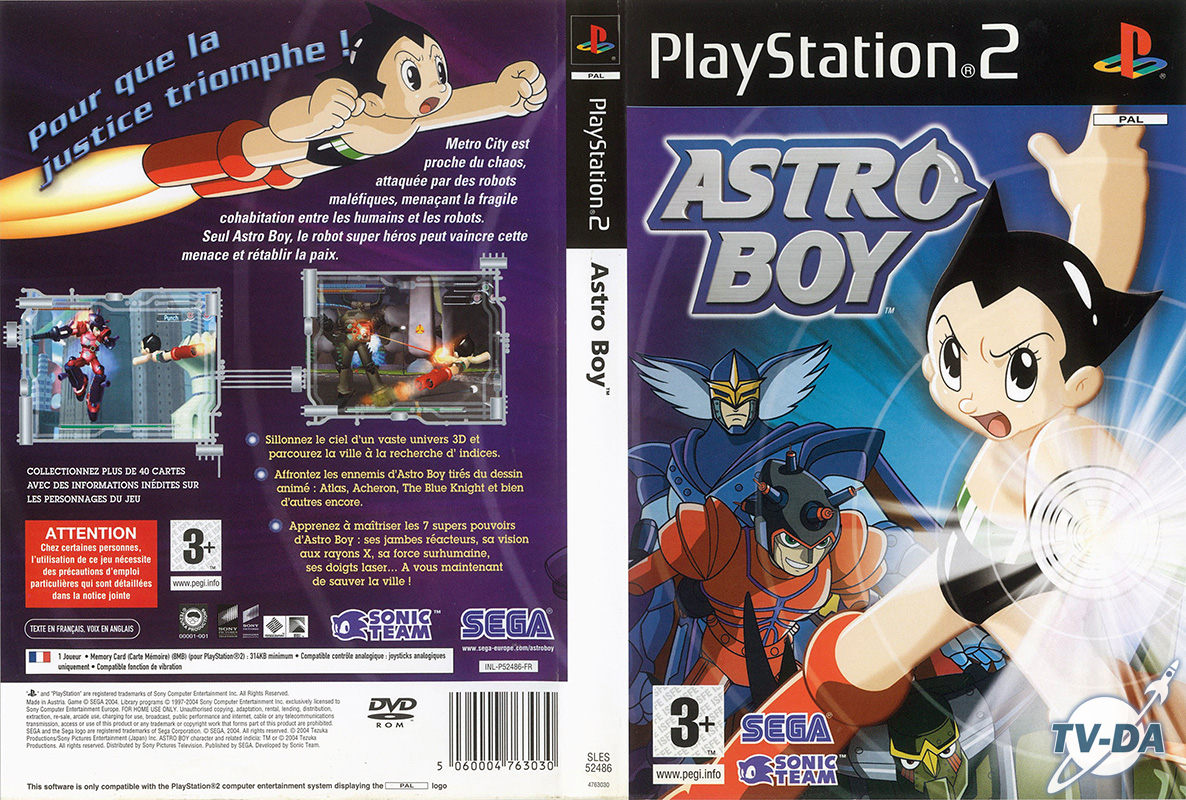 jeu playstation 2 astro boy
