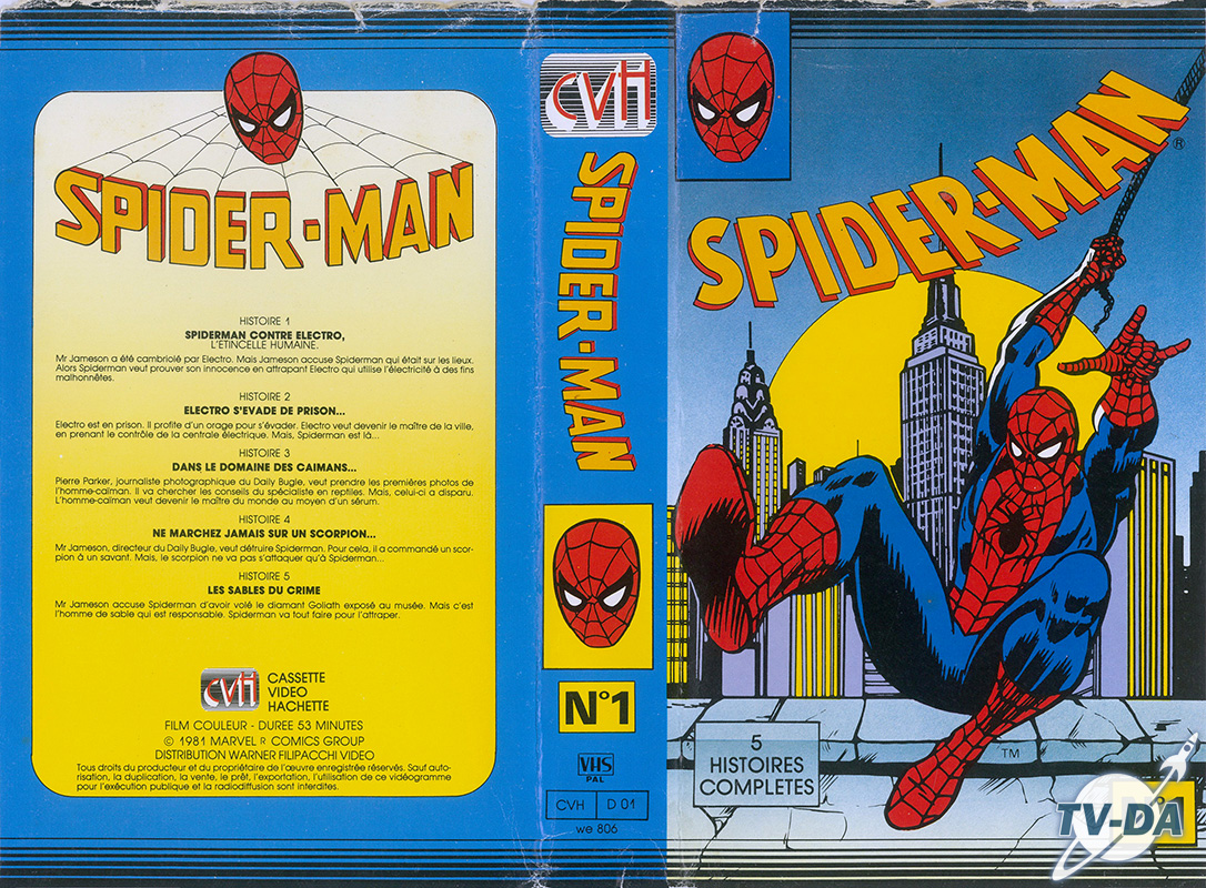 vhs cassette video spiderman numero 1