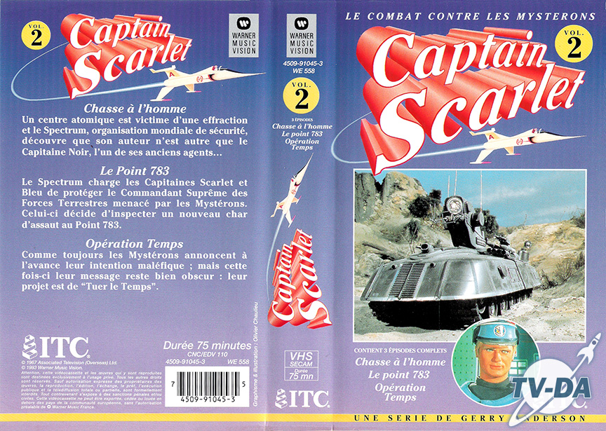 k7 video captain scarlet volume 2